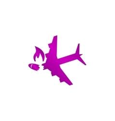 Airplane crash icon vector