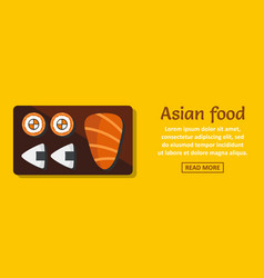 asian food banner horizontal concept vector image