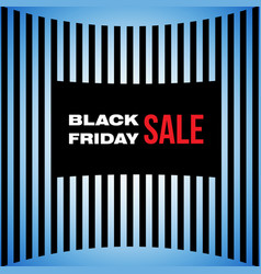 black friday sale banner advertising vector image