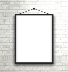 blank picture frame on brick wall 1503 vector image vector image