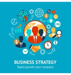 Business and management modern concept vector image vector image