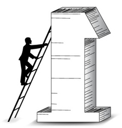 Business success ladder vector