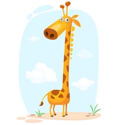 cartoon cunny giraffe character vector image vector image