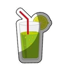 Cocktail juice citrus fruit vector