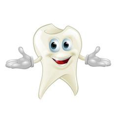 Cute tooth dental mascot vector