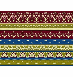 Floral pattern indian style vector