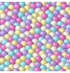 Gumball candies seamless pattern vector image