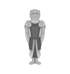 Knight icon black monochrome style vector