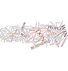 Leadership text background word cloud concept vector
