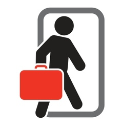 Passenger with luggage moving forward vector image vector image