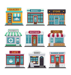 retail business urban shop store vector image vector image