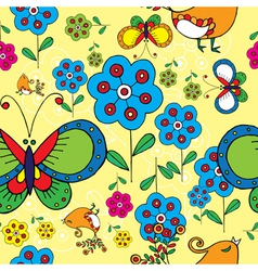 spring floral print vector image vector image