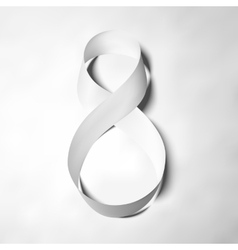 Symbol of gray ribbon for 8 March International vector image vector image