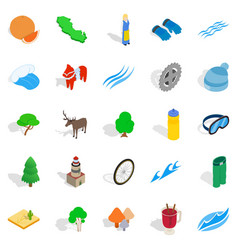 Unity icons set isometric style vector