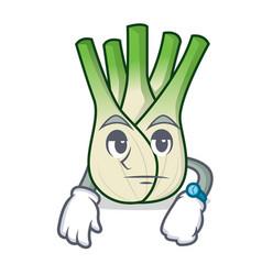 Waiting fennel mascot cartoon style vector