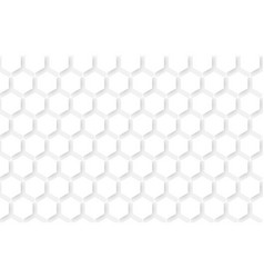White abstract seamless hexagons pattern vector
