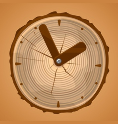 Wooden clock vector