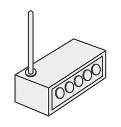 Wifi router icon vector