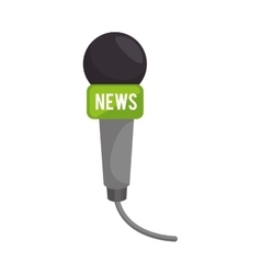 Microphone news communication vector