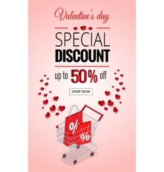 Valentines day sale flayers vector