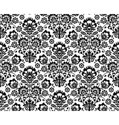 Seamless floral polish pattern - ethnic background vector image