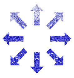 Explode arrows grunge textured icon vector