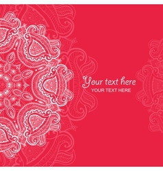 Invitation card with lace ornament 4 vector