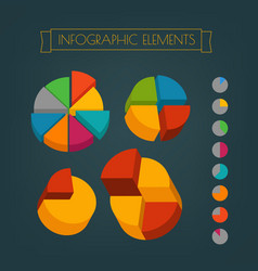 Business infographic elements clip-art vector
