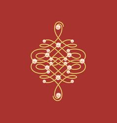 Elegant golden knot sign vector