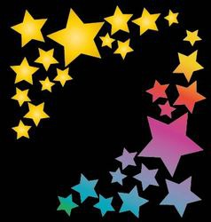 Stars in rainbow colors vector