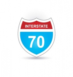 interstate 70 vector image