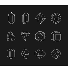 Set of line geometric shapes for logo vector