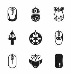 Computer mouse icon set vector