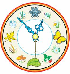 Clock four season vector