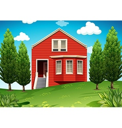 Private house with garden vector