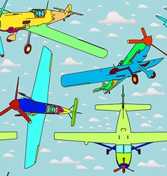 seamless pattern with planes vector image