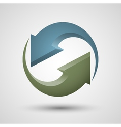 Rotation two arrows icon vector