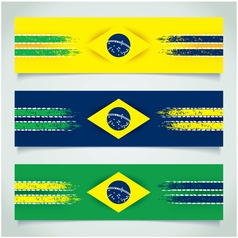 Abstract design brazilian flag vector