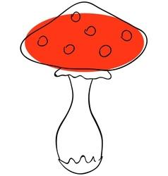 Amanita vector image