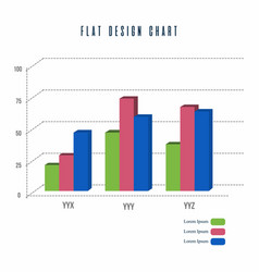 bar chart info graphics elements design vector image