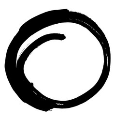 brush stroke in the form of a circle drawing vector image vector image