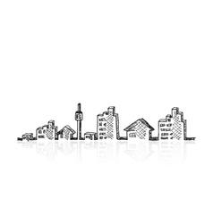 Cityscape sketch vector image vector image