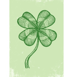 Clover on old paper vector image