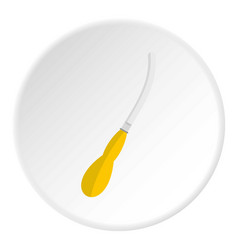 Dental suction tool icon circle vector