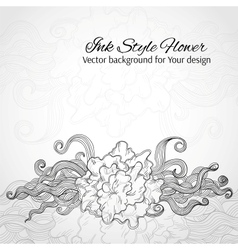 Doodle stylized flower Abstract background for vector image