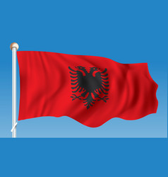 Flag of albania vector