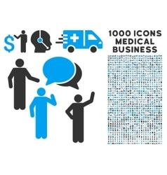 Forum icon with 1000 medical business pictograms vector