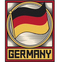 germany flag poster vector image vector image