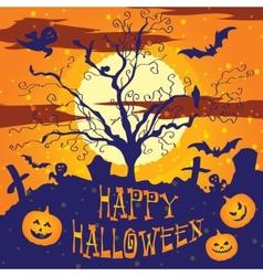 Halloween graveyard vector