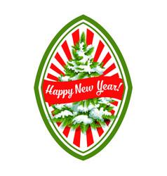 happy new year christmas tree icon vector image